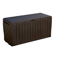 Keter Marvel Plus 71 Gallon Outdoor Storage Deck Box, Espresso Brown