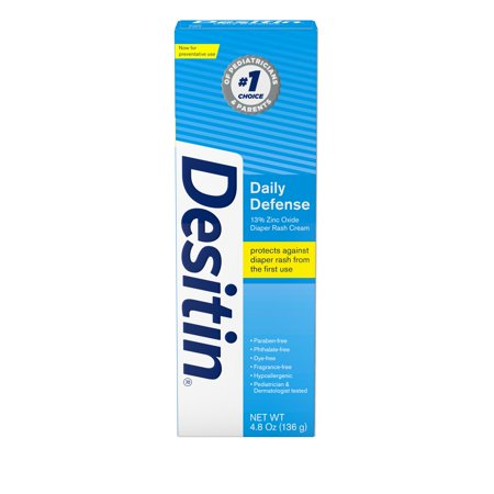 Desitin Daily Defense Baby Diaper Rash Cream with Zinc Oxide, 4.8