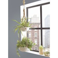 Better Homes and Gardens Parquet Outdoor Double Hanging Planter