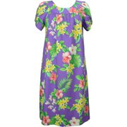 75b7034388e RJC Women s Hibiscus Plumeria Orchid Muumuu Dress