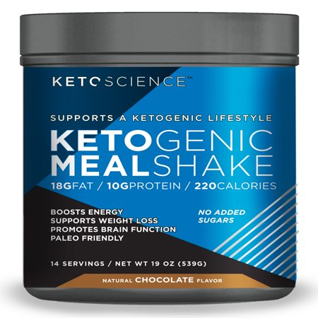 Keto Science Ketogenic Meal Shake Chocolate Dietary Supplement, 19 oz., 14