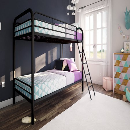 Dhp Twin Over Twin Metal Bunk Bed Frame Multiple Colors Walmartcom