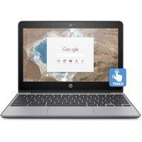 "HP Chromebook 11, 11.6"" Corning Gorilla Glass Touchscreen, Intel Celeron N3060, Intel HD Graphics 400, 16GB eMMC, 4GB SDRAM, Ash Gray, 11-v020wm"