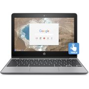 "HP Chromebook 11, 11.6"" Corning Gorilla Glass Touchscreen, Intel Celeron N3060, Intel HD Graphics 400, 16GB eMMC, 4GB SDRAM, Ash Gray, 11-v020wm"
