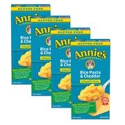(4 Pack) Annie's Gluten Free Mac & Cheese Pasta & Cheddar Mac & Cheese 6 oz