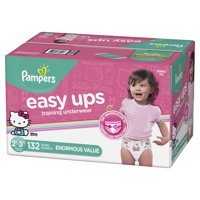 Pampers Easy Ups Training Underwear Girls, Size 2T-3T, 132 Count