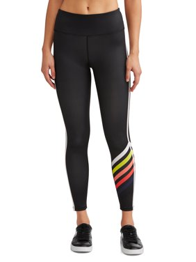 Graphic Stripe Legging Women's (Caviar)