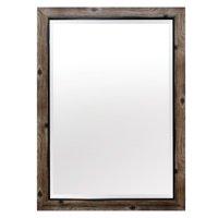 Yosemite Home Gray Wood Frame with Black Trim Wall Mirror