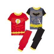Boys  Justice League Batman and Flash 4 Piece Pajama Sleep Set (Little Boy   766577892