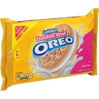 (2 Pack) Nabisco Golden Double Stuf Oreo Sandwich Cookies, 20 oz