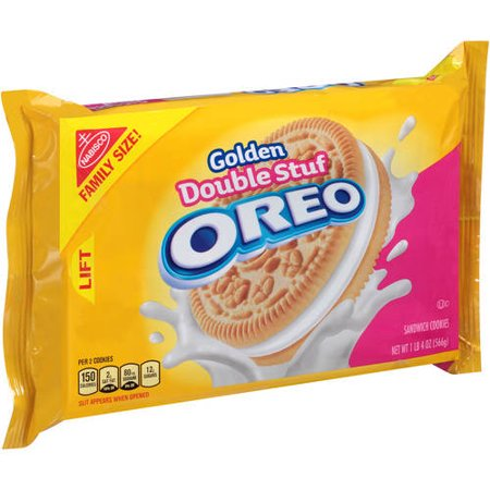 (2 Pack) Nabisco Golden Double Stuf Oreo Sandwich Cookies, 20 oz