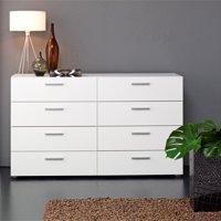 Tvilum Loft 8-Drawer Double Dresser, Multiple Colors