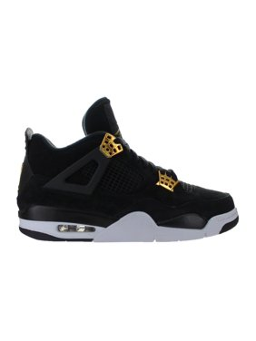Mens Air Jordan Retro 4 IV Royalty Black Metallic Gold White 308497-03