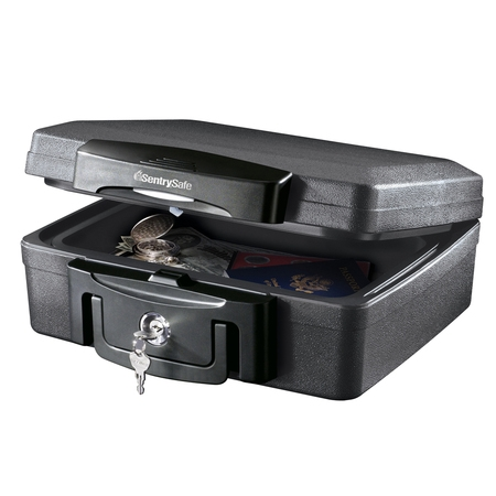 - SentrySafe H0100 Fire-Resistant Box and Waterproof Box with Key Lock 0.17 cu ft