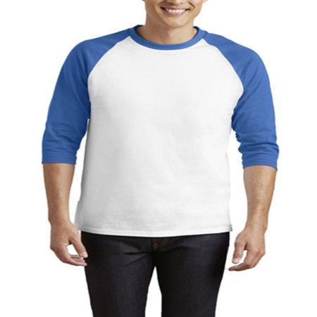 Esho Men Casual Raglan Plain Tee Jersey 3/4 Sleeve Running Sports