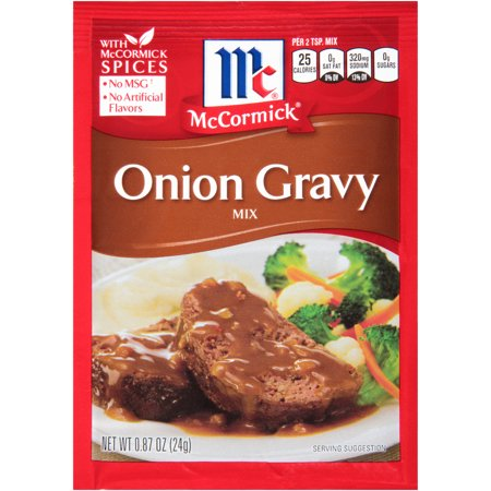 (4 Pack) McCormick Onion Gravy Mix, 0.87 oz