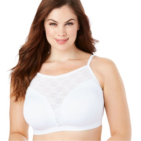 Amoureuse Plus Size Lace Trim Wireless Cami Bra