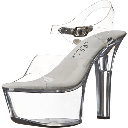 Womens Sexy Shoes High Heels Platform Sandals Clear Platform Black or Clear](Clear Stripper Shoes)