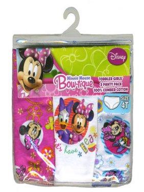 Disney Toddler Girl Underwear, 3-Pack