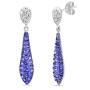 8cc1396f9 Sterling Silver Purple Crystal Drop Earrings made with Swarovski Crystals