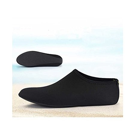 Teva Water Shoes - Barefoot Water Skin Shoes, Epicgadget(TM) Quick-Dry Flexible Water Skin Shoes Aqua Socks for Beach, Swim, Diving, Snorkeling, Running, Surfing and Yoga Exercise (Black, XL. US 9-10 EUR 40-41)