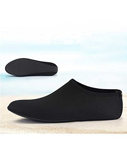 Barefoot Water Skin Shoes, Epicgadget(TM) Quick-Dry Flexible Water Skin Shoes Aqua Socks for Beach, Swim, Diving, Snorkeling, Running, Surfing and Yoga Exercise (Black, XL. US 9-10 EUR 40-41) - Mesh Water Shoes