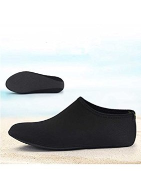 Barefoot Water Skin Shoes, Epicgadget(TM) Quick-Dry Flexible Water Skin Shoes Aqua Socks for Beach, Swim, Diving, Snorkeling, Running, Surfing and Yoga Exercise (Black, XL. US 9-10 EUR 40-41)