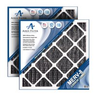 Airex 24x24x2 Carbon MERV 8 Pleated AC Furnace Air Filter, Box of 3 - (Actual Size: 23.5 X 23.5 X 1.75)