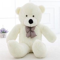 WOWMAX 6.5 Foot White Giant Huge Teddy Bear Cuddly Stuffed Plush Animals Teddy Bear Toy Doll White 79""