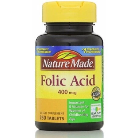 Nature Made Folic Acid 400 mcg Tablets 250 ea ()