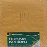 Duck Kraft Bubble Mailer, #5 (10.5 in. x 15 in.), Self-Sealing, 7-Count