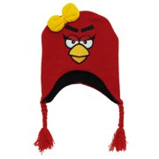 f4681fd3bfa angry birds rovio red bird video game toddler girls pilot peruvian  laplander hat