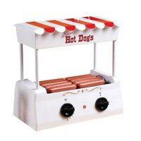 Nostalgia Electrics Old Fashioned Hot Dog Roller White/ Red