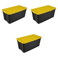 Sterilite, 50 Gal./189 L Stacker Tote, Yellow Lily, Case of 3