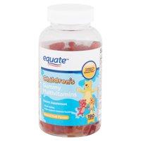 Equate Children's Multivitamins Natural Fruit Flavors Gummies, 190 count
