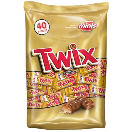 Twix Caramel and Chocolate Cookie Minis Halloween Candy Bar, 40 Ounce](Ate Too Much Halloween Candy)