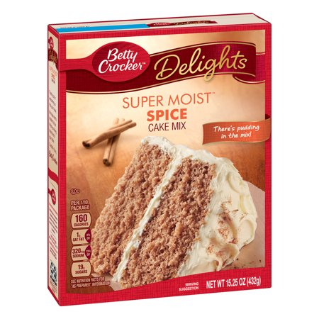 (2 pack) Betty Crocker Super Moist Spice Cake Mix, 15.25 oz Apple Spice Cake Recipe