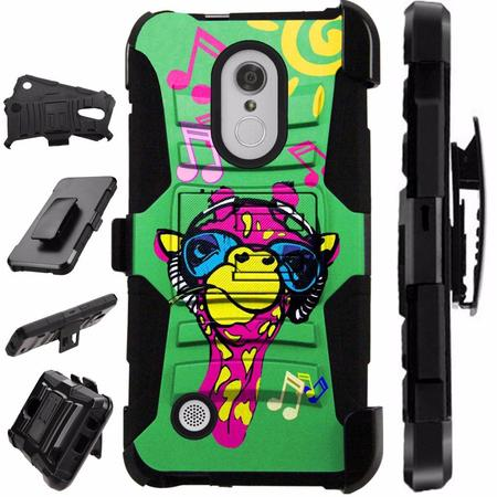 Compatible HMD Nokia 3.1 Plus | Feller Case Armor Hybrid Phone Cover LuxGuard Holster (Giraffe (Nokia Best Music Phone)