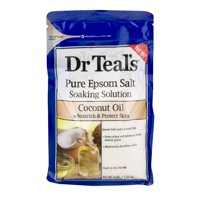 (2 pack) Dr Teal's Pure Epsom Salt Soaking Solution with Coconut Oil, 3 lbs