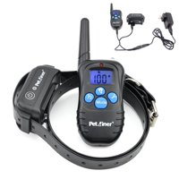 Petrainer PET998DBB1 Waterproof Shock Collar 330yds Remote Dog Training Collar with Beep/Vibration/Shock Electric E-collar