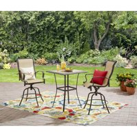 Mainstays Wesley Creek 3-Piece Outdoor Bar Height Set, Seats 2