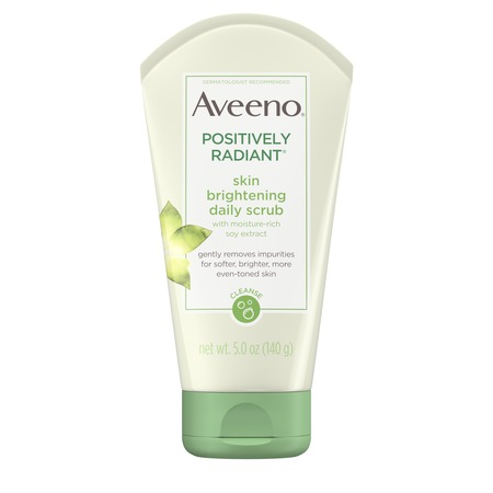 Aveeno Positively Radiant Skin Brightening Exfoliating Face Scrub 5 (Best Moisturizing Face Wash For Dry Skin)