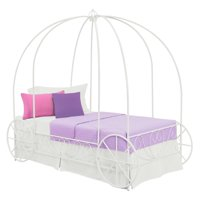 DHP Metal Carriage Bed, Twin-Sized, Multiple Colors