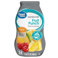 (10 Pack) Great Value Electrolyte Drink Enhancer, Fruit Punch, 1.62 fl oz