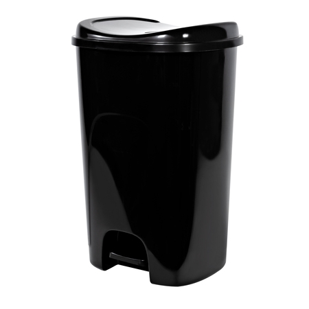 Hefty Step-On 13-Gallon Trash Can, Black (Halloween Trailer Trash)