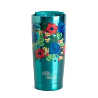 The Pioneer Woman® 20 oz Stainless Steel Double Wall Vacuum Insulated Teal Tumbler with Lid
