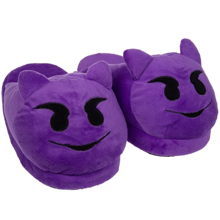 Emoji House Slippers Funny Soft Plush For Adults Kids Teens Bedroom Smiley Comfy Socks Womens Girls - Girls Glass Slippers