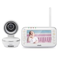 "VTech VM4261, 4.3"" Digital Video Baby Monitor with Pan & Tilt Camera, Wide-Angle Lens and Standard Lens, White"