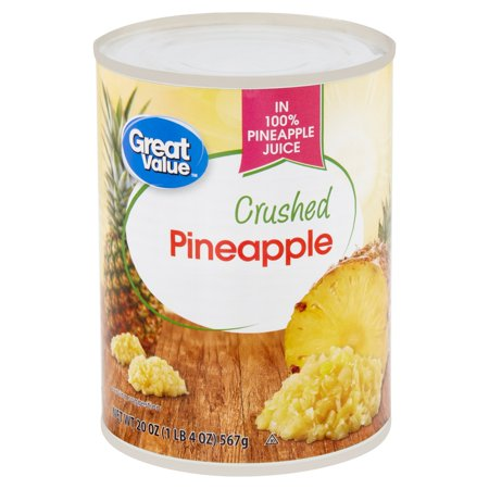 Roasted Pineapple - Great Value Crushed Pineapple, 20 oz