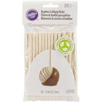 Wilton 5-Inch Bamboo Lollipop Treat Sticks, 30-Count